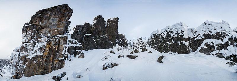 Скальный коридор на Хребте Ерикташ