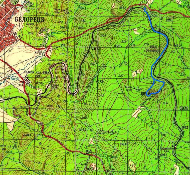 Маршрут на гору Курташтау со станции Урал-Тау