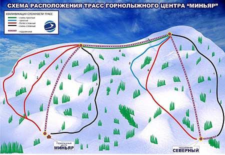 Карта трасс ГЛЦ Миньяр