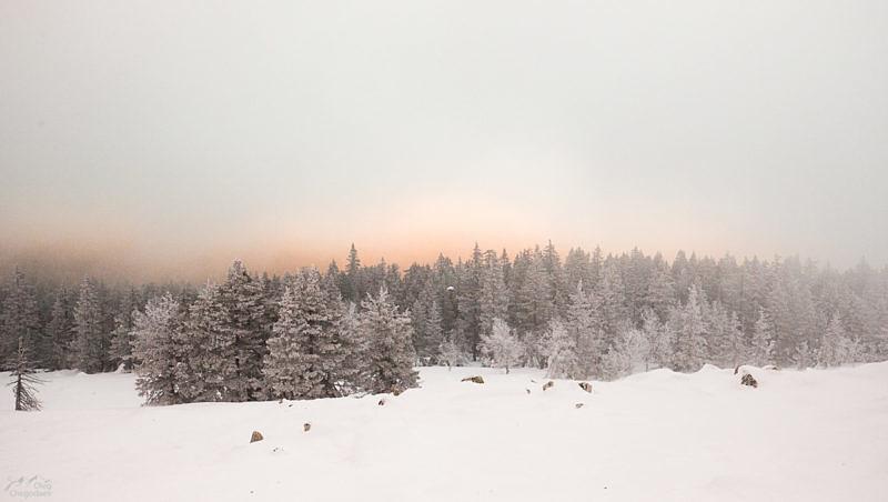 Облачный рассвет на Юрме