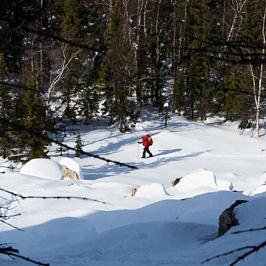 Введение в лыжный туризм на примере одного похода. Хребет Юрма – приют Метеостанция – Златоуст (карты +gps трек)