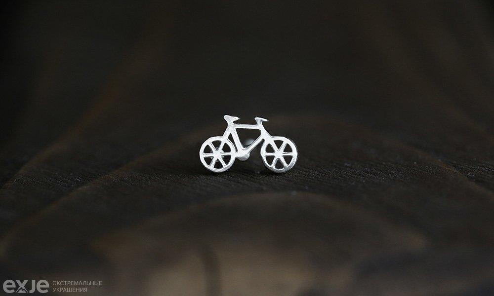 "Серьга ""Велосипед"""