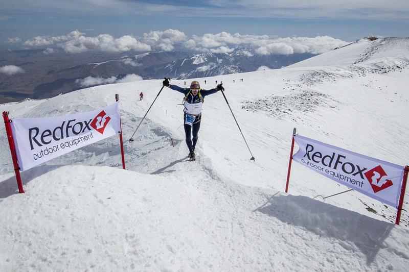 Karl Egloff финиш на вершине Эльбруса