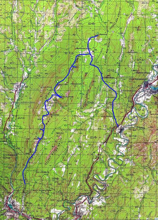 Карта маршрута NoneStop Шатак