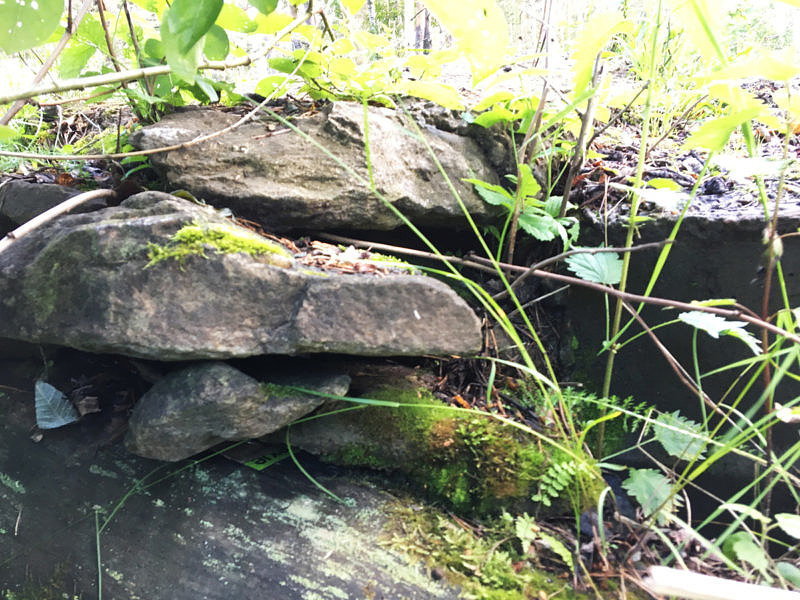 Закладка под камнями