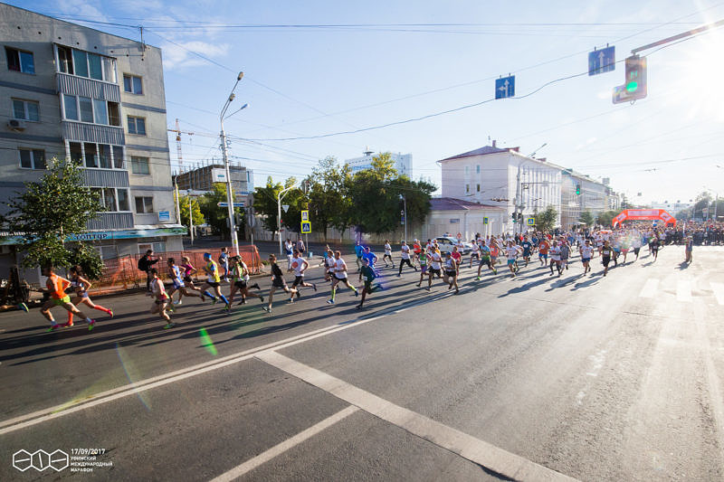 Старт Уфимского международного марафона 2017