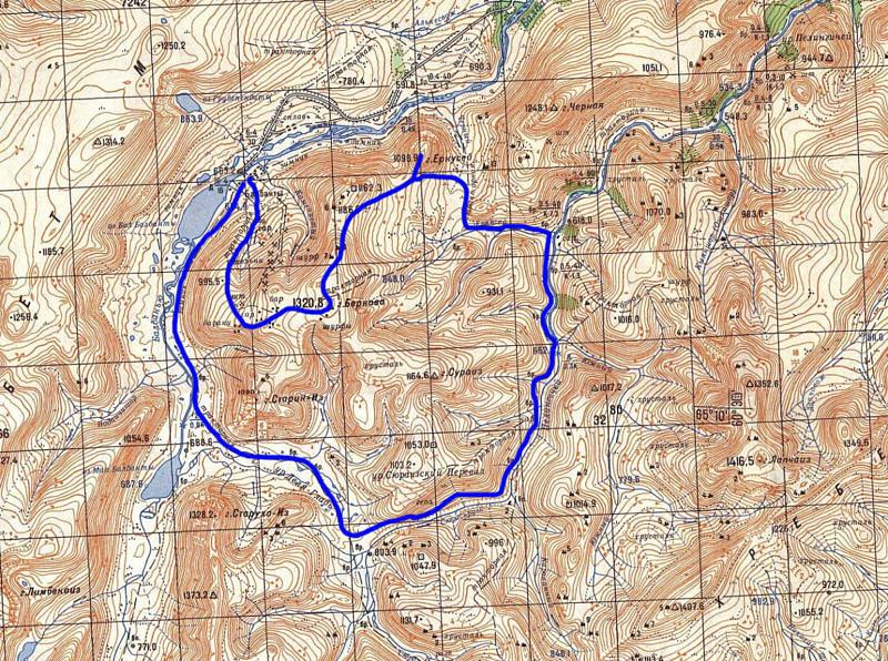 Маршрут по приполярному Уралу вокруг Еркусея