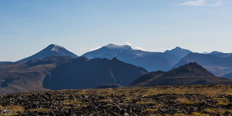 Вид на север с вершины горы Баркова