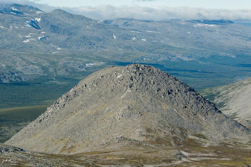 Гора Еркусей, вид с юга