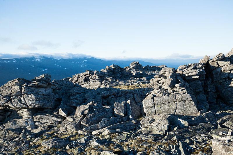 На вершине горы Еркусей