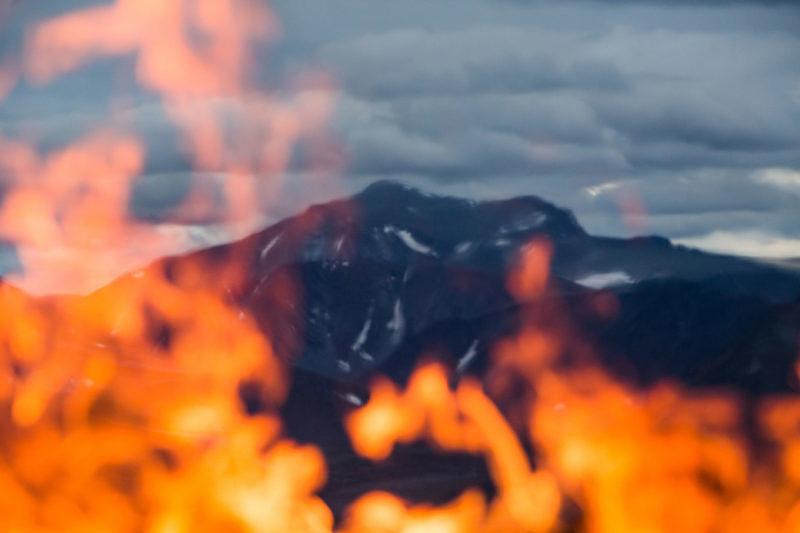 Гора Народная в огне