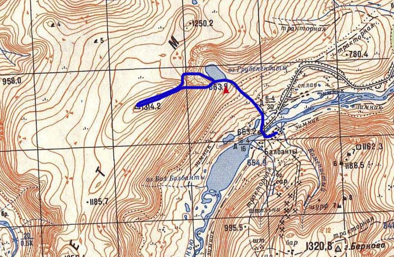 Маршрут на озеро Грубепендиты