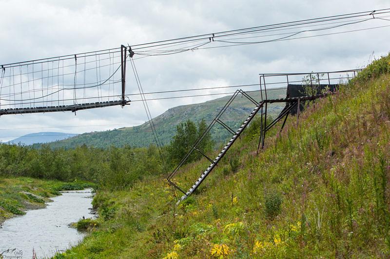 Разводной мост через реку Собь.