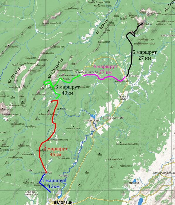 общая карта маршрута 2 этапа проекта Уральский Барс