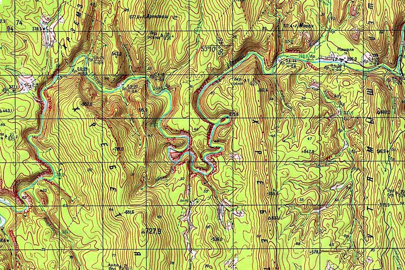 Лавины на Южном Урале район 3 (реки Белая, Нугуш, Зилим и др. горно-таежные)