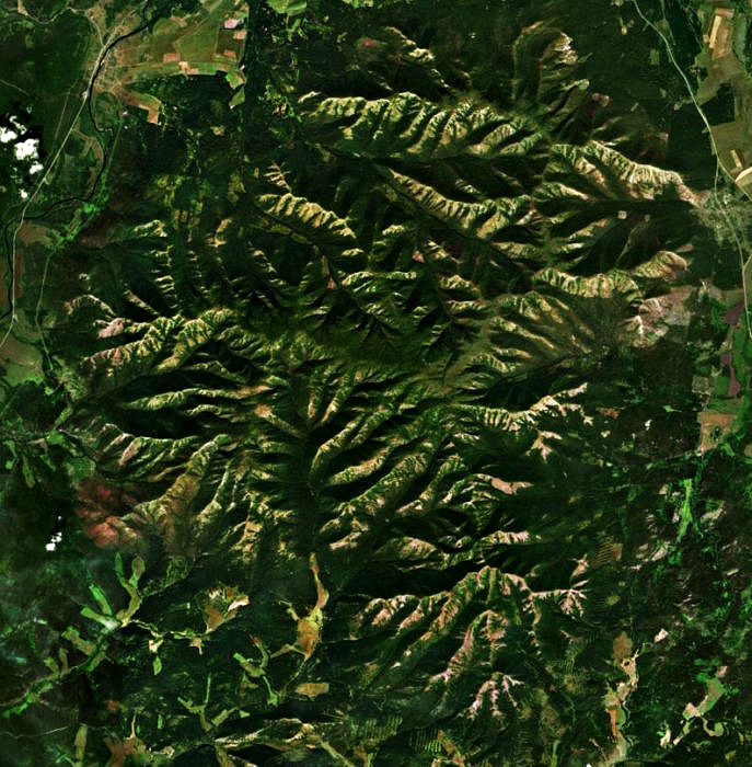 Хребет Крака на спутниковом снимке