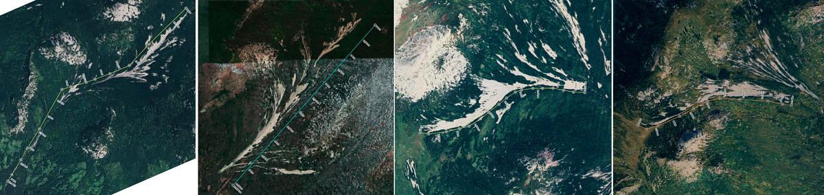 Спутниковые снимки курумных рек