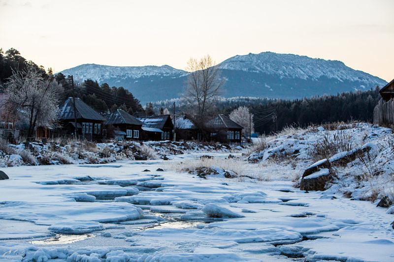 Река Тюлюк в деревне Тюлюк
