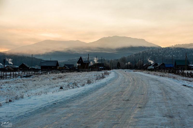 Деревня Тюлюк на рассвете