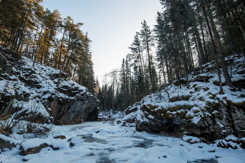 Ларкино Ущелье зимой