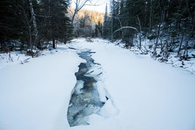Река Тюлюк зимой