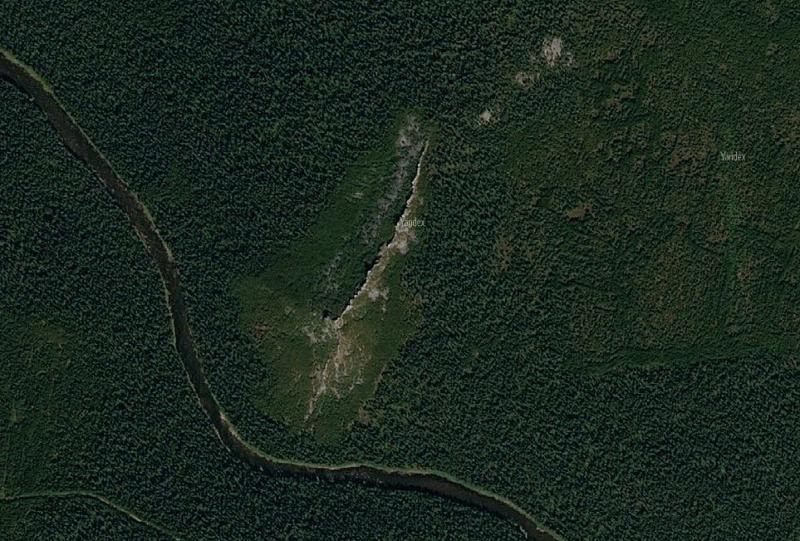 Гребень Ераниной Деревни на спутниковом снимке