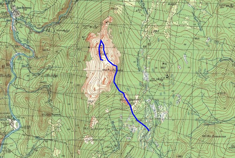 2 день маршрута Першинские болота - Ослянка