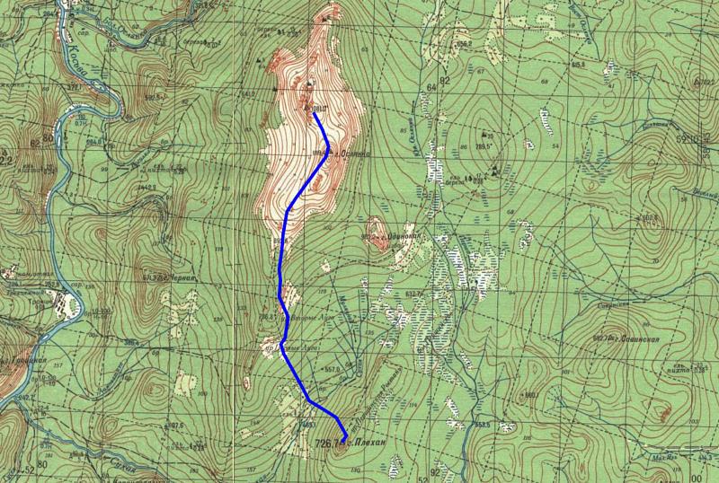 3 день маршрута Ослянка (1119) - Плехан (726,7)