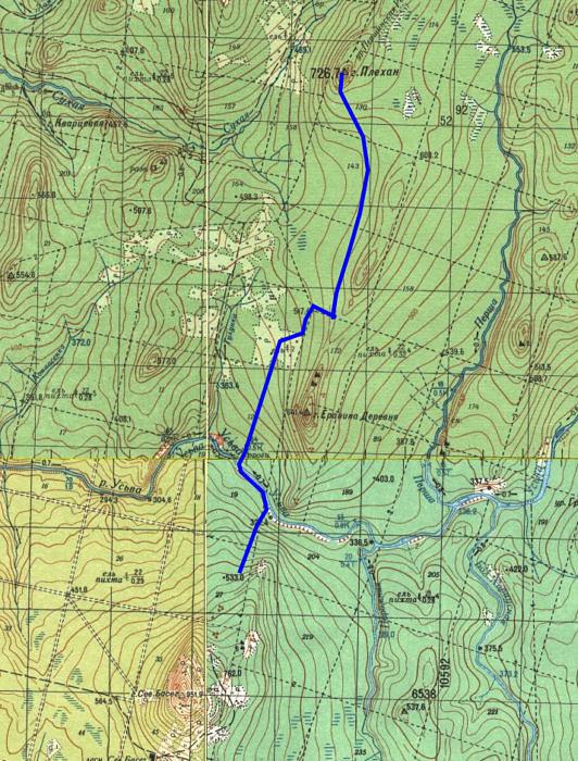 4 день маршрута Плехан (726,7) - р. Усьва - отрог горы Северный Басег