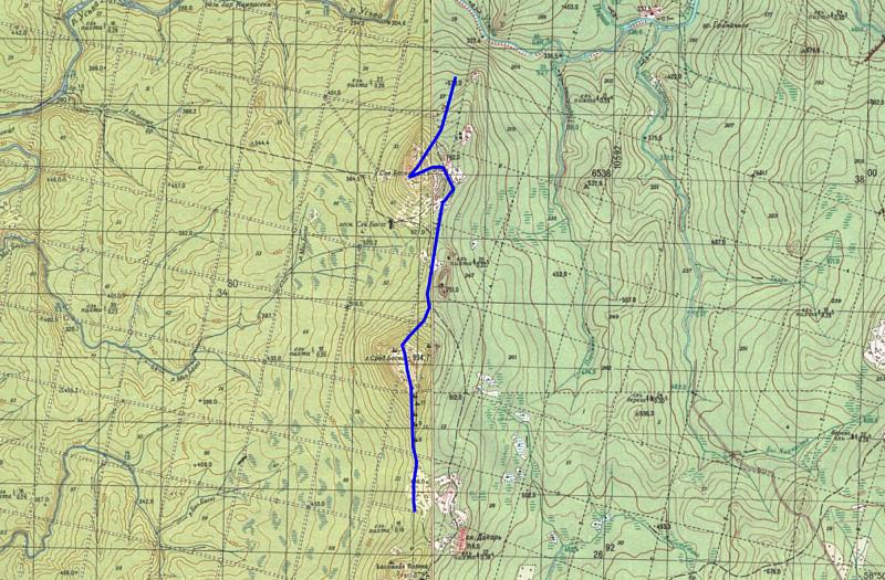 5 день маршрута Отрог горы Северный Басег - Северный Басег (951,9) - Средний Басег (994,7) - поляны
