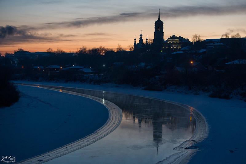 Город Кунгур, перед рассветом