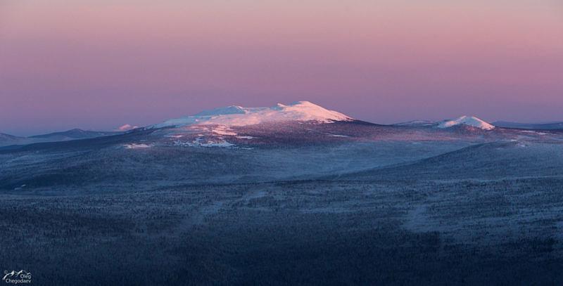 Высшая точка Среднего Урала гора Ослянка и вершина Одинокая