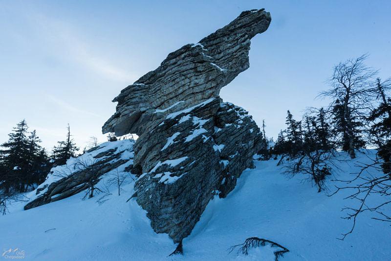 Скалы на хребте Басеги
