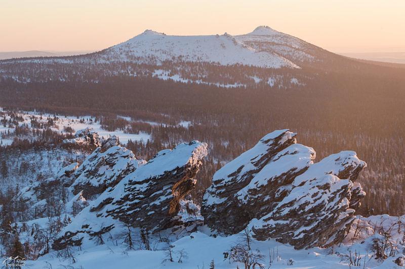 Гора Бесежная поляна на закате