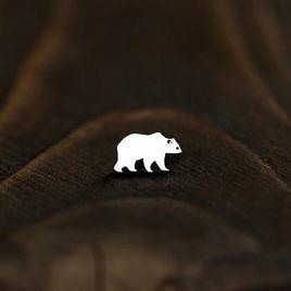 Серьга Бурый медведь