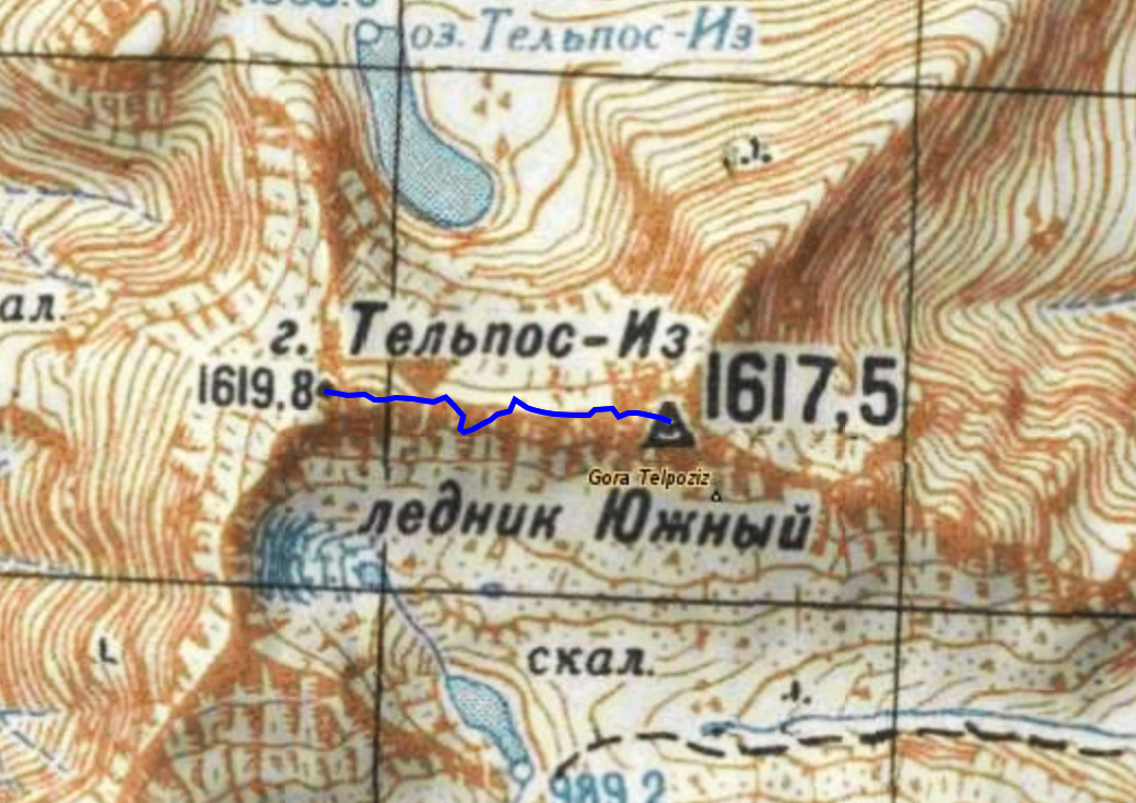 4 день Траверс гребня горы Тельпосиз