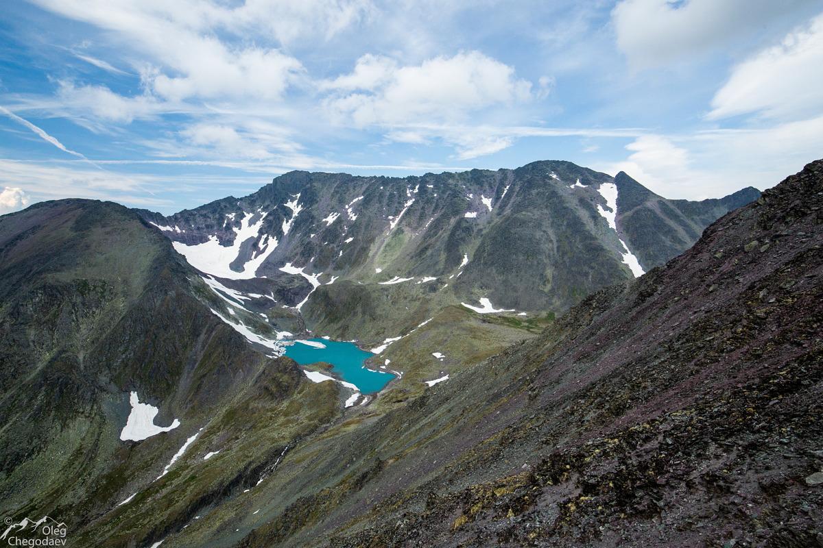Гора Тельпосиз с плеча горы 1468,6