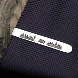 "Зажим для галстука ""Медвежий угол"""