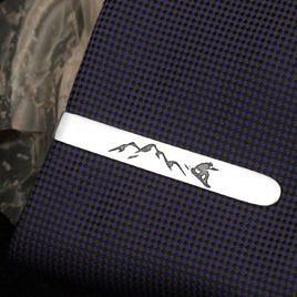 "Зажим для галстука ""Сноубординг"""