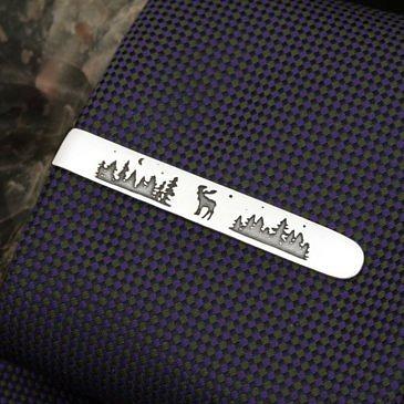"""Зажим для галстука """"Здоровый как лось"""""""