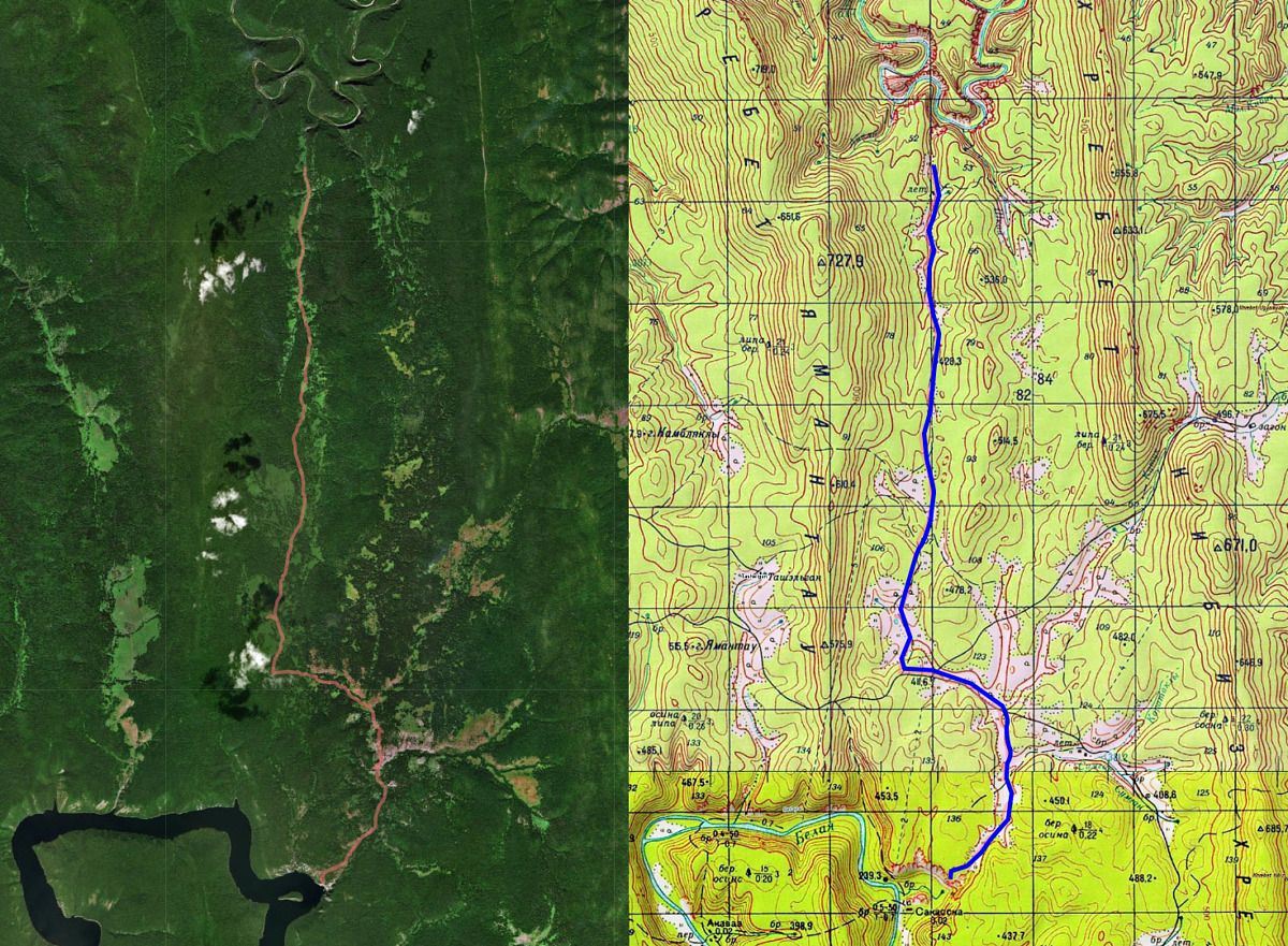 2 день маршрута Ур. Сакаска - ур. Кутук (Пещ. Кутук-Сумган - р. Нугуш)