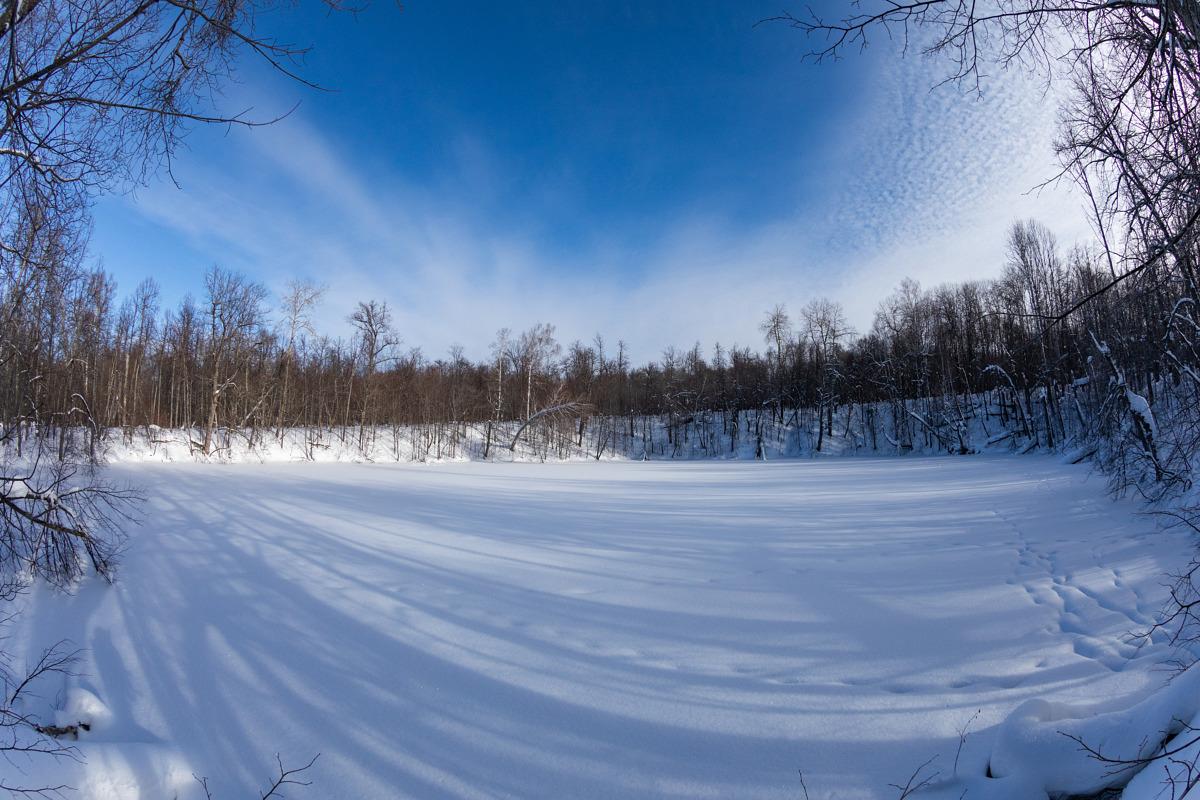 карстовое озеро Заячье