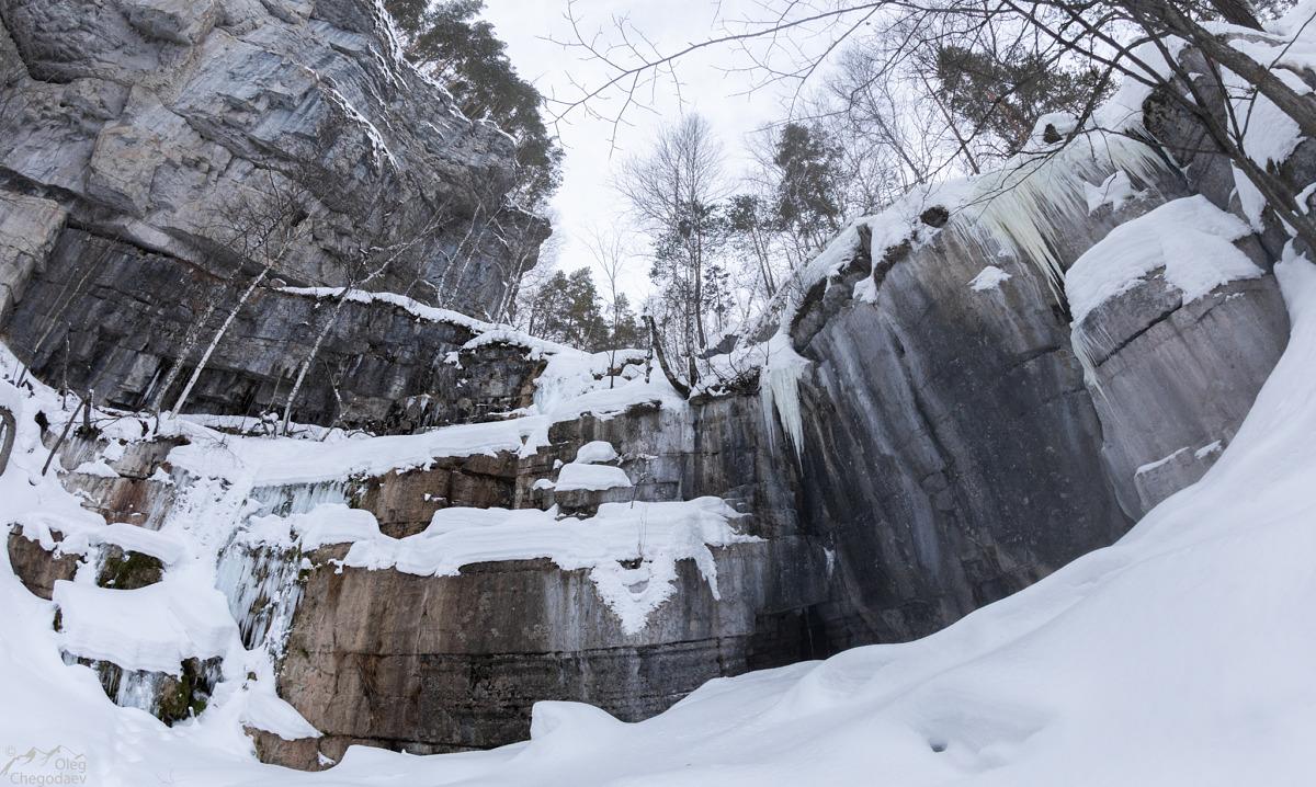 Водопад Куперля в феврале 2019 года
