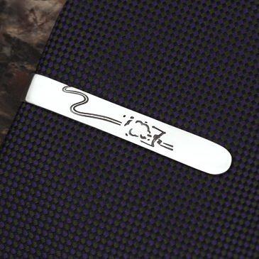 """Зажим для галстука """"Горные лыжи"""""""