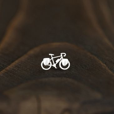 "Серьга active girl  ""Туристический велосипед"""