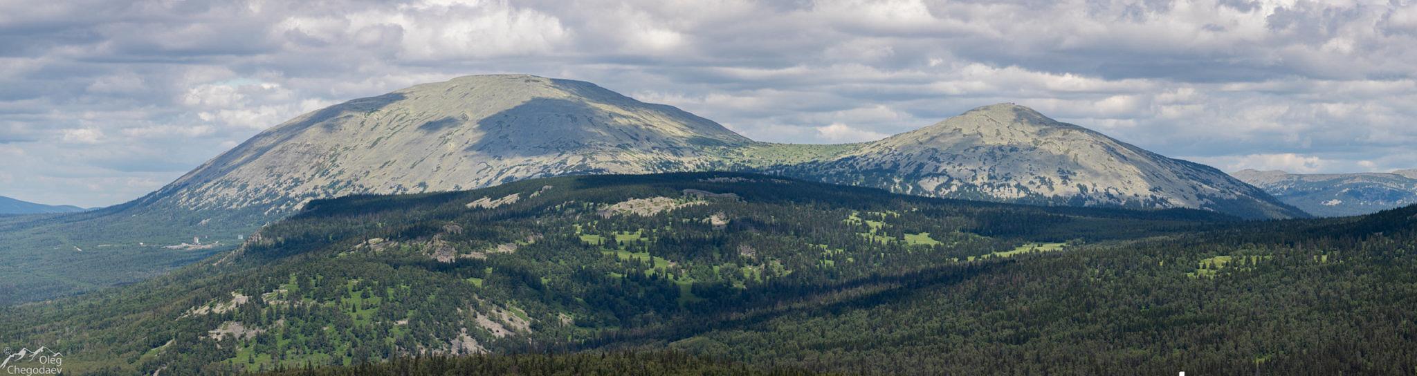 Горы Ямантау и Куянтау с горы Кусейматау