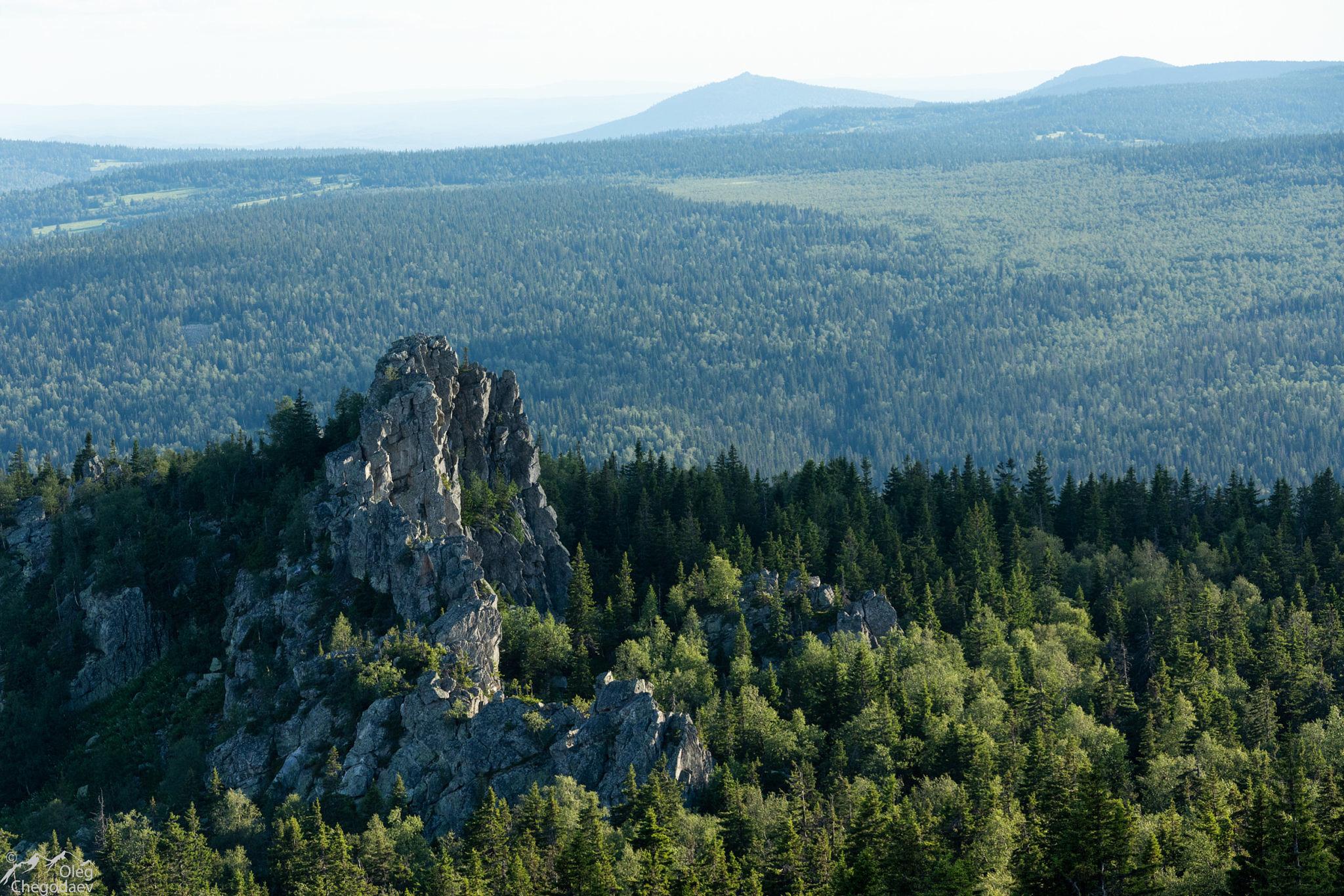 Скалы на вершине Шикташ