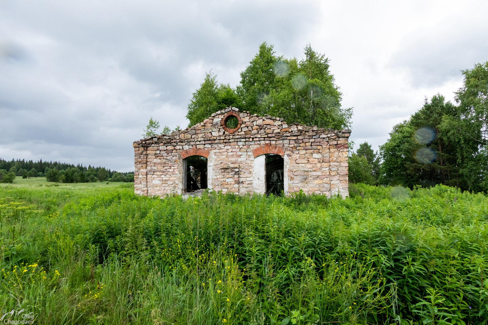 Развалины станции в ур. Юрюзань