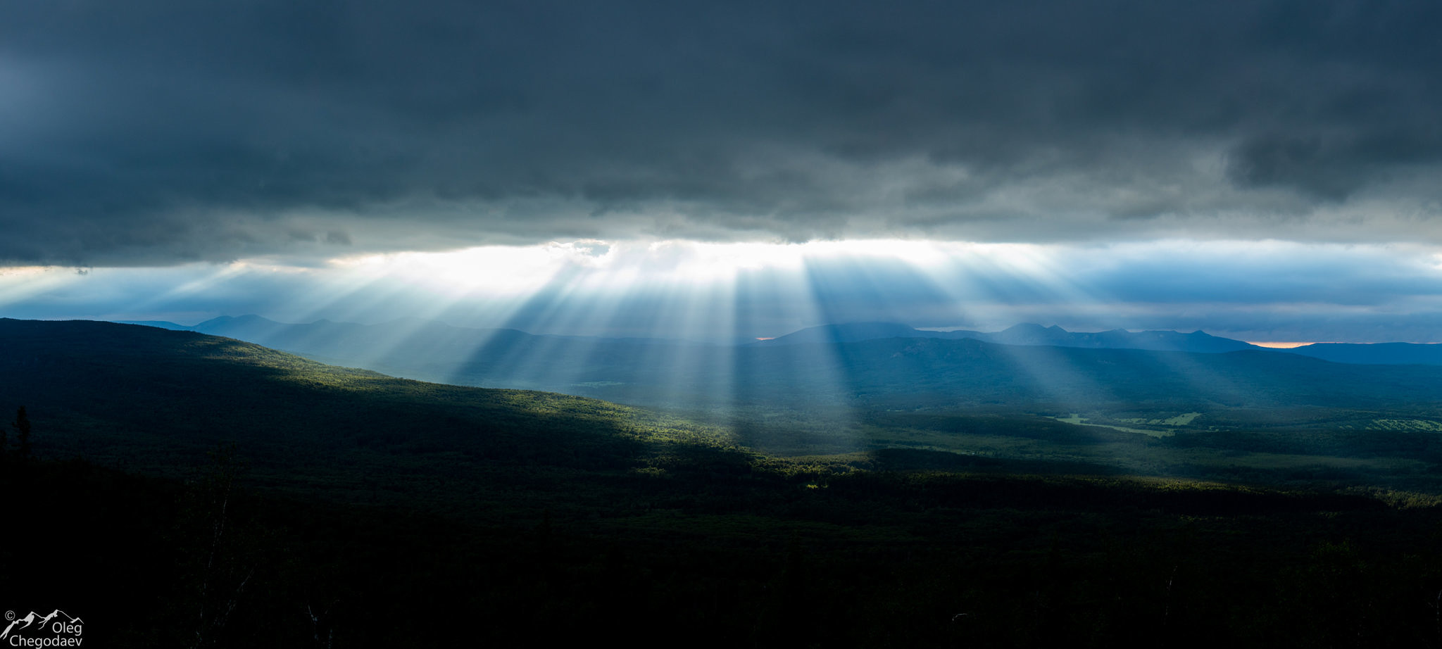 Закат над хребтом Зигальга