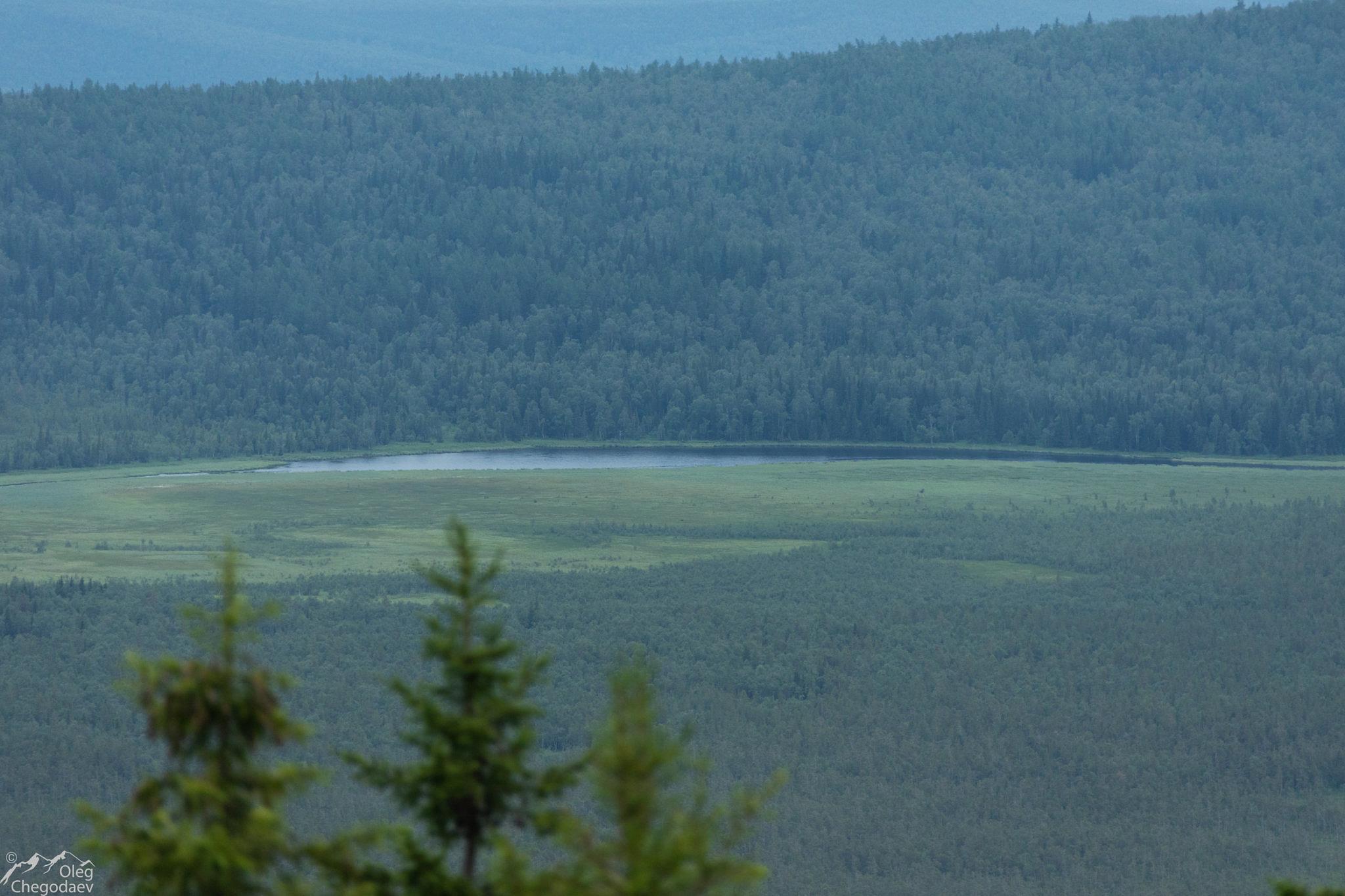 Тюлюкское озеро на Клюквенных болотах